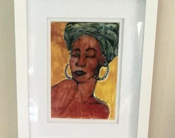 Afrocentric ,Woman ,Art,Print