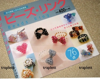 Japanese Craft Pattern Book Beaded Rings How to
