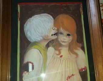 """Zombie repainted Margaret Keane """" big eyes """""""