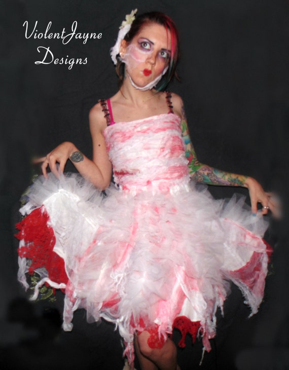 Mummy Dress Zombie Dress Halloween Wedding Broken Doll Etsy
