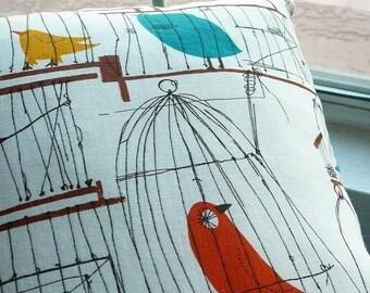 50s Birdcage Pillow