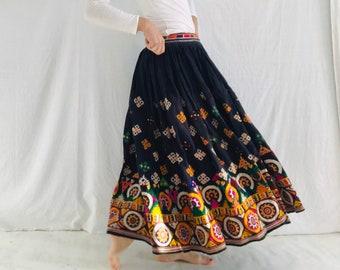4b07ee09a3 Vintage Rabari Long Embroidered Skirt. Hand Embroidered.