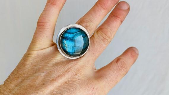 Labradorite Ring. Size 9