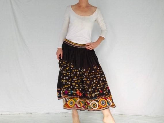 Vintage Rabari Long Embroidered Skirt. Hand Embro… - image 4