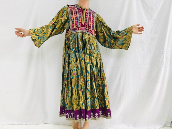 Vintage Kuchi Hand-Embroidered Dress. Fits up to S