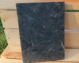 journal black mulberry paper