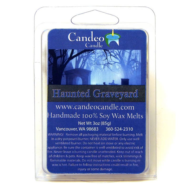 Haunted Graveyard Soy Melt Cubes by Candeo Candle 2-Pack