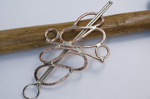 Copper hair accessory hair barrette