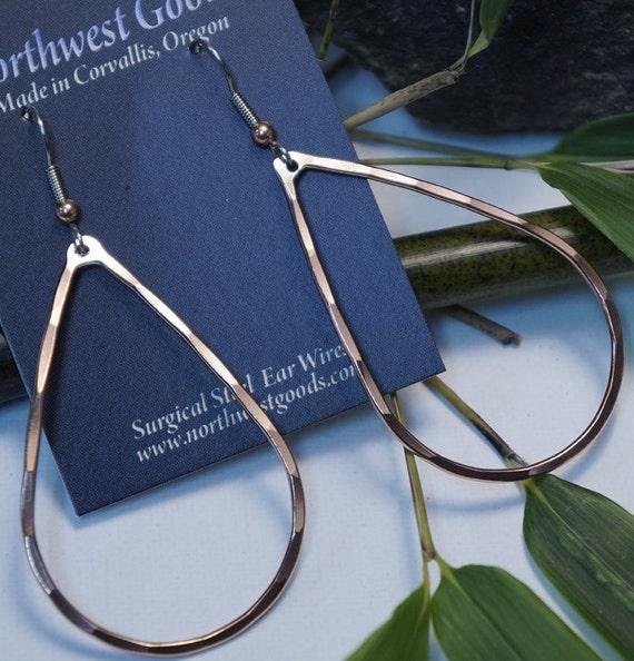 Copper teardrop earrings
