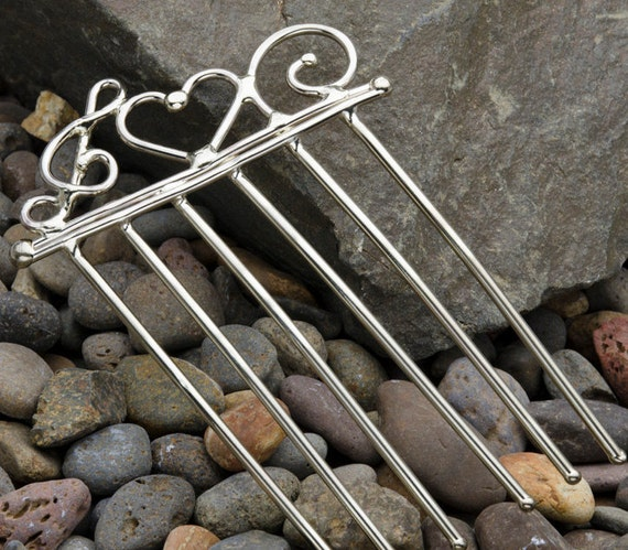 Heart & Clef Note Hair Comb