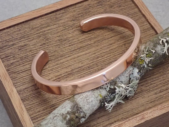Solid Copper Cuff Bracelet, Men's or Women's Copper Cuff Bracelet, Gift for him, Gift for her, Free Engraving, Custom Sizing