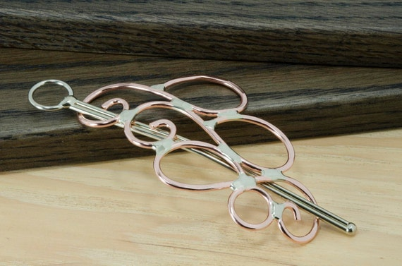 Copper hair barrette or shawl pin