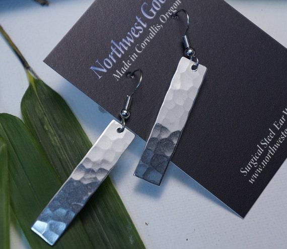 Aluminum bar  earrings
