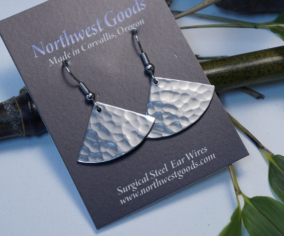 Aluminum fan earrings