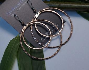 Copper Earring Hoops