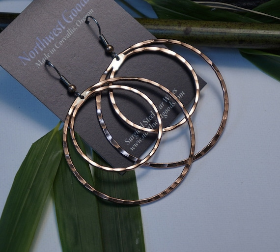 Copper Earring Hoops