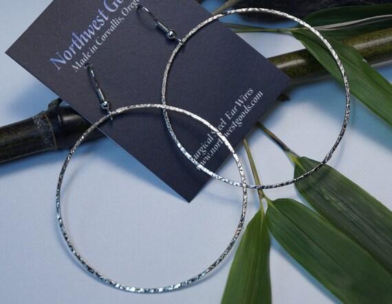 Nickel silver hoop earrings