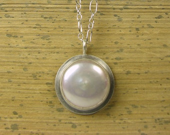 Pearl Pendant, pearl necklace, pearl and silver, freshwater pearl, FWP necklace, FWP pendant
