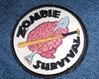 Zombie Survival Iron on Patch