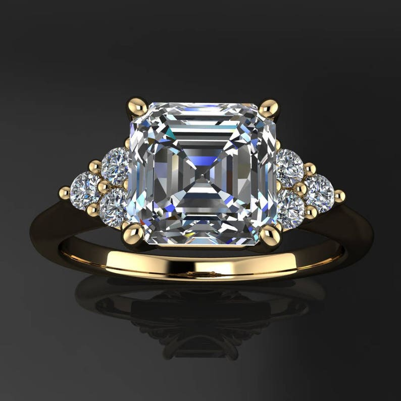 madison ring  1.8 carat asscher cut ZAYA moissanite image 0