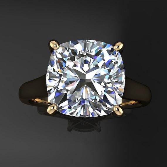 Katya Ring 3 Carat Cushion Cut Neo Moissanite Engagement Ring