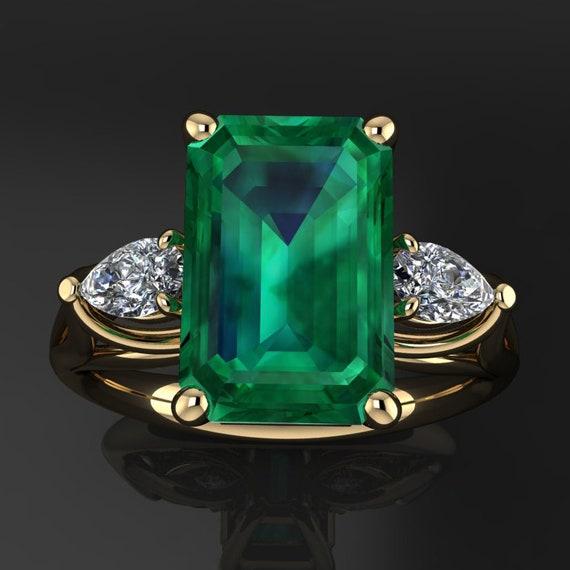 Crazy Rich Asians Ring 4 Carat Green Moissanite Ring Etsy