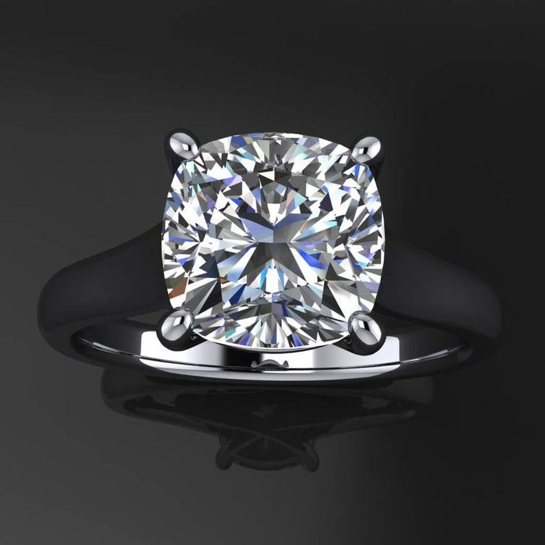 katya ring  2 carat cushion cut NEO moissanite engagement image 0
