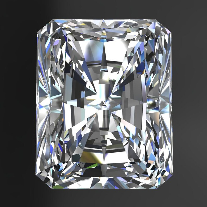 NEO moissanite - radiant cut moissanite, colorless moissanite, loose stone