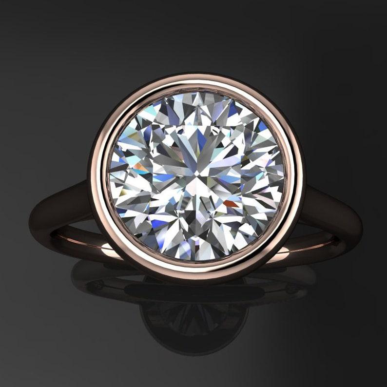 86a7e5a37 Naked halle ring 2.5 carat round Hollywood cut ZAYA | Etsy