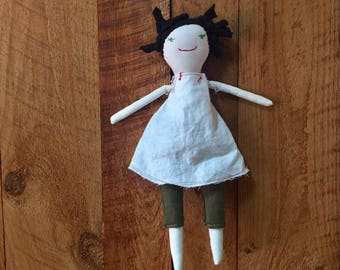Cloth Rag Doll - Modern Waldorf Doll - Handmade Childhood