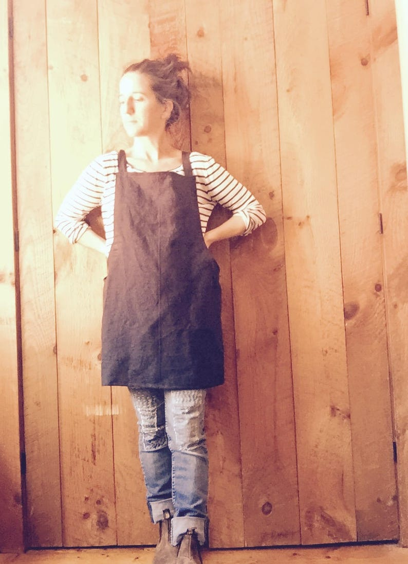 The Linen Utility Apron Hostess Gift Minimalist Kitchen Gifts for Cooks Hygge