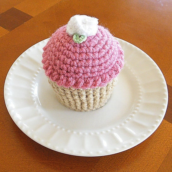 Cupcake Pincushion Cake Pincushion Crocheted Cupcake Etsy