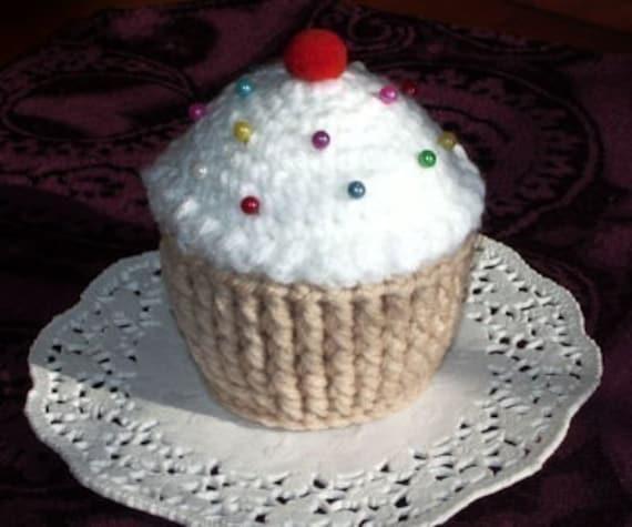 Crocheted Cupcake Pincushion Vanilla Chocolate Or Etsy