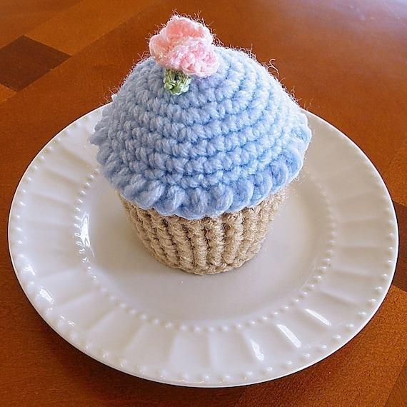 Handmade Pin Cushion, Jumbo Cupcake Pin Cushion Funfetti Cupcake Pin Cushion Cupcake Crochet Cupcake