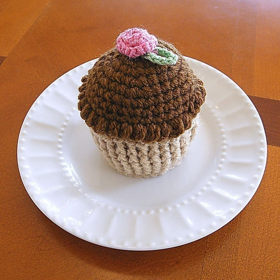 Cupcake Pincushion Crochet Cupcake Chocolate Cupcake Pin Etsy