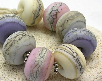 Organic Handmade Glass Lampwork Beads - Dawn Beach