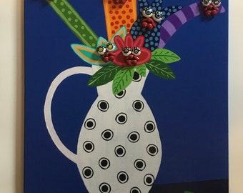 16 x 20 Painting of Flowers in vase