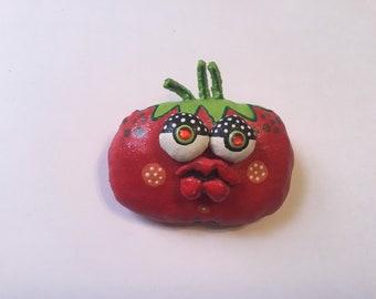Soft Sculpture wearable Art Tomato