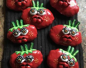 Soft Sculpture Art Tomato magnet