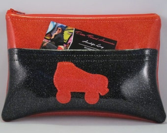 Red and Black Roller Skate Pocket Fanny Pack