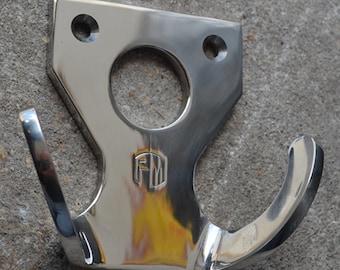 PM Custom polished stainless steel coat hook