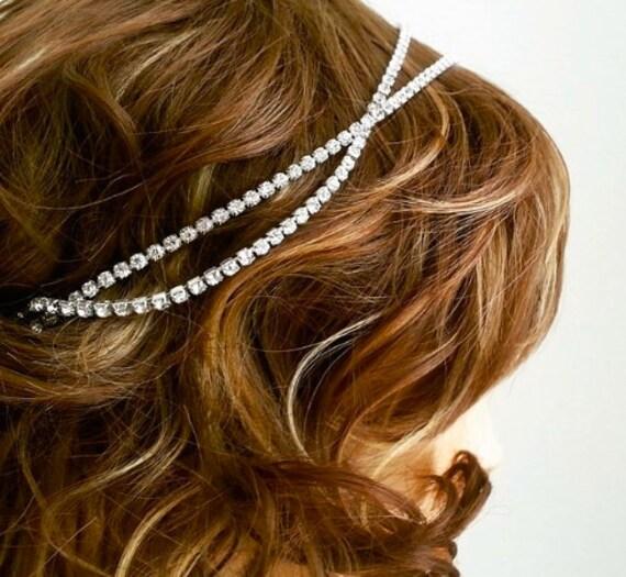 Stylist Popular Art Deco Silver Head Chain Headband Headpiece Hair Band UK Sell