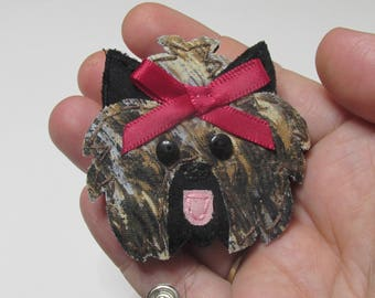 Yorkie Badge Reel,Yorkie Badge Card Holder,Yorkie,Dog,Yorkshire Terrier, ID Holder,Nursing Badge Holder, Nurse Badge Reel, Retractable, RTS