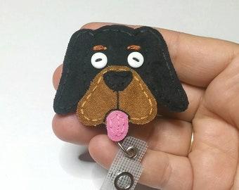 Coonhound Dog Badge Reel , Hound Dog Name Badge Holder, Coon Dog, Dog, Fabric Dog,Badge Card Holder, ID Holder,Nurse ID,Handmade Badge Reel