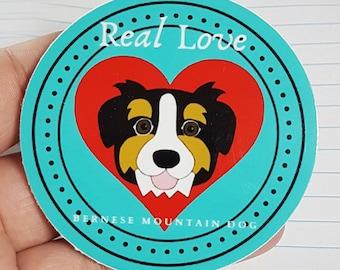 Bernese Mountain Dog Sticker, HollyCraft Originals Bernese Mountain Dog Designed Sticker, Handmade Sticker, Dog Sticker, Dog, Bernie Sticker