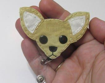 Chihuahua Badge Reel, Chihuahua, Dog Badge Reel, Nurse Name Badge Holder, Chihuahua Name Badge, ID Holder, Retractable Badge Holder