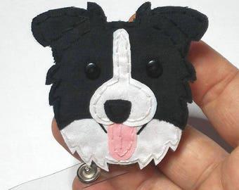 Border Collie,Australian Shepherd,Cattle dog,Dog, Badge Reel,Badge Card Holder,ID Holder,Nursing Badge Holder,Border Collie badge ID Holder