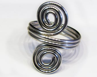 Double Spirals Ring in Any Size
