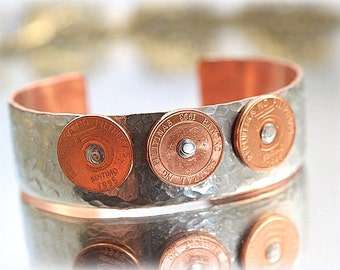 Soldered Copper Coin Bracelet Heavy Textured One-of-a-Kind Cuff Original