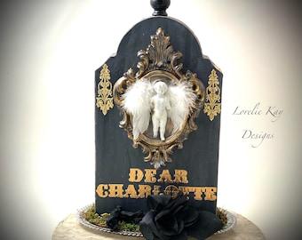 Dear Charlotte Tombstone Halloween Decoration Cemetery Graveyard  Decoration China Doll Cemetery Scene Lorelie Kay Original